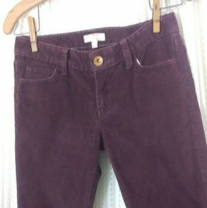 Burgundy  corduroy Pants size 25 Banana Republic